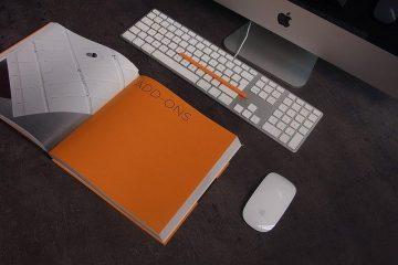 sketch book on desktop infront of an imac